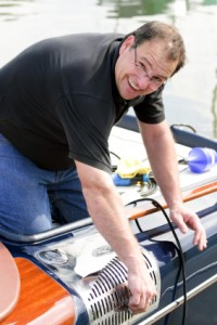 Polishing the speedboat